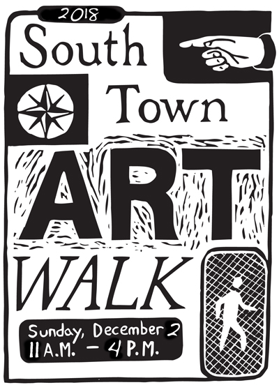 2018 South Town Art Walk Flyer